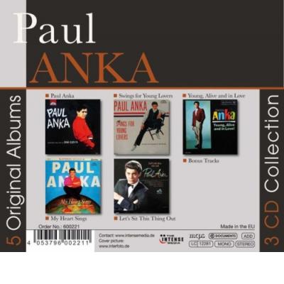 Paul Anka - 5 Original Albums 3CD