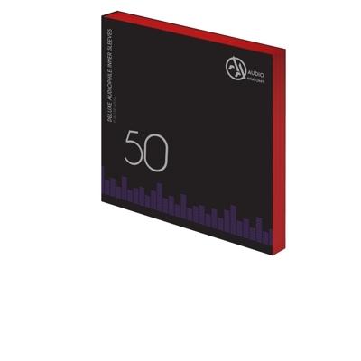 "50 db 12"" DELUXE AUDIOPHILE ANTISTATIC VINYL BELSO BORÍTÓ VÖRÖS - 80 GRAMM"