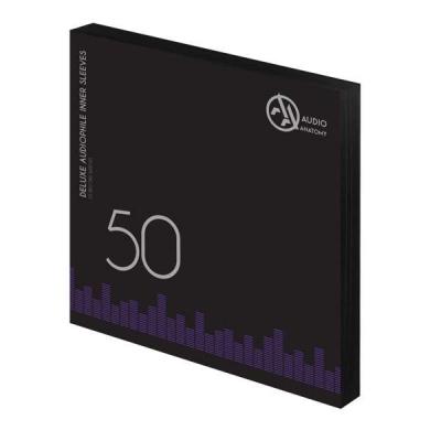 "50 db 12"" DELUXE AUDIOPHILE ANTISTATIC VINYL BELSÕ BORÍTÓ FEKETE - 80 GRAMM"