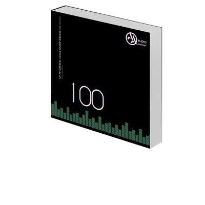 """100 db 12"""" PP CRYSTAL CLEAR KÜLSO VINYLBORÍTÓ (80 micron)"""