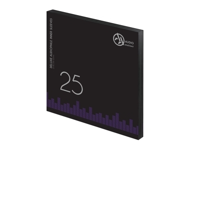 "25 db 12"" DELUXE AUDIOPHILE ANTISTATIC VINYL BELSO BORÍTÓ FEKETE - 80 GRAMM"