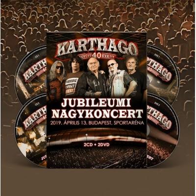 """""""Együtt 40 éve"""" jubileumi nagykoncert 2019.04.13. (DIGI 2CD+2DVD BOKSZ)"""